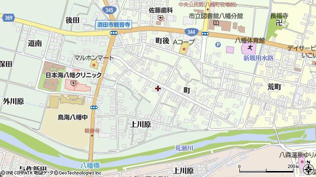 山形県酒田市観音寺町128周辺の地図