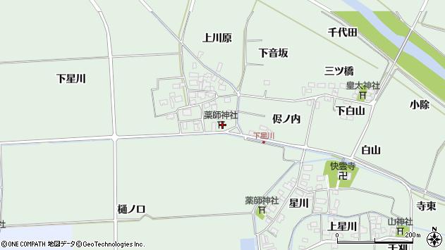 山形県酒田市大豊田下星川4周辺の地図