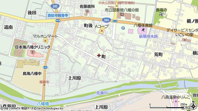 山形県酒田市観音寺町74周辺の地図