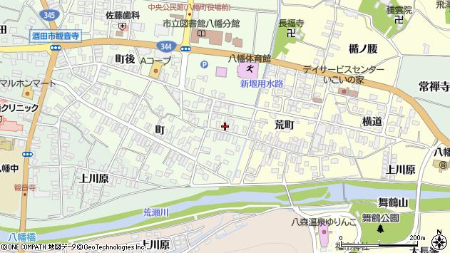 山形県酒田市観音寺町8周辺の地図