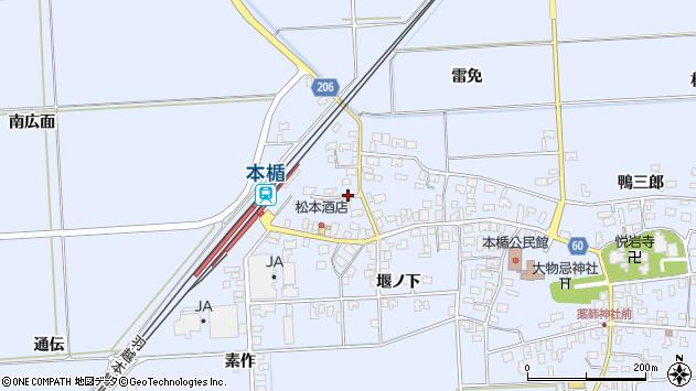 山形県酒田市本楯南広面3周辺の地図