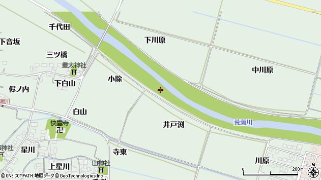 山形県酒田市大豊田井戸渕周辺の地図