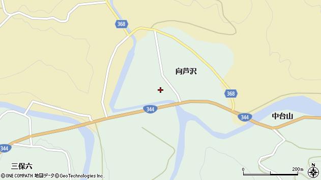 山形県酒田市上青沢向芦沢46周辺の地図