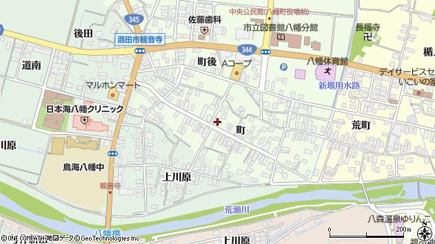 山形県酒田市観音寺町81周辺の地図