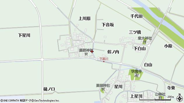 山形県酒田市大豊田下星川3周辺の地図
