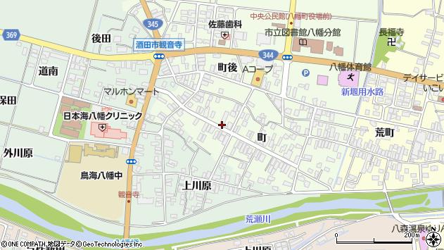 山形県酒田市観音寺町87周辺の地図