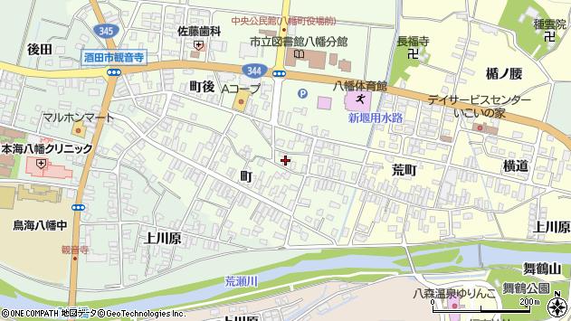 山形県酒田市観音寺町21周辺の地図