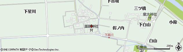 山形県酒田市大豊田下星川8周辺の地図