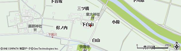 山形県酒田市大豊田下白山周辺の地図