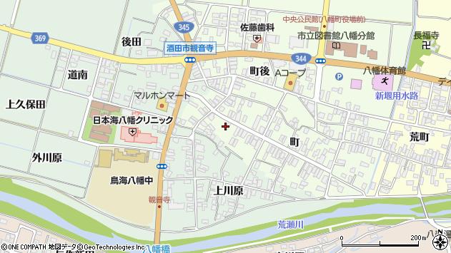 山形県酒田市観音寺町121周辺の地図