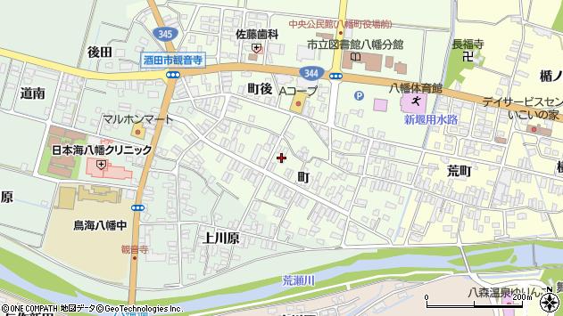 山形県酒田市観音寺町80周辺の地図
