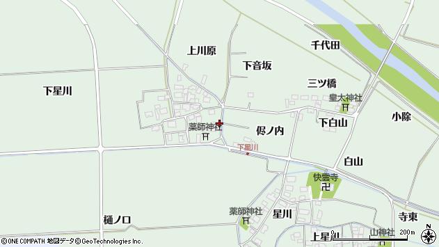 山形県酒田市大豊田下星川42周辺の地図