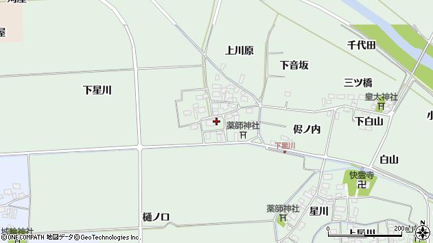 山形県酒田市大豊田下星川20周辺の地図