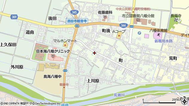 山形県酒田市観音寺町122周辺の地図