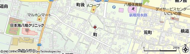 山形県酒田市観音寺町後72周辺の地図