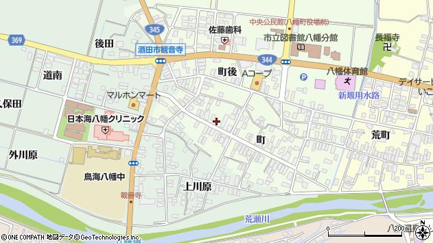 山形県酒田市観音寺町88周辺の地図