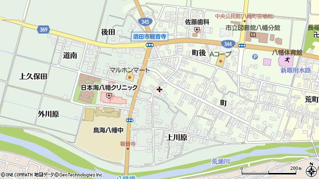 山形県酒田市観音寺町115周辺の地図