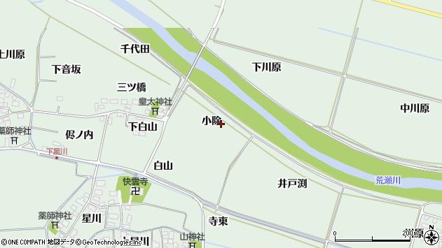 山形県酒田市大豊田小除周辺の地図