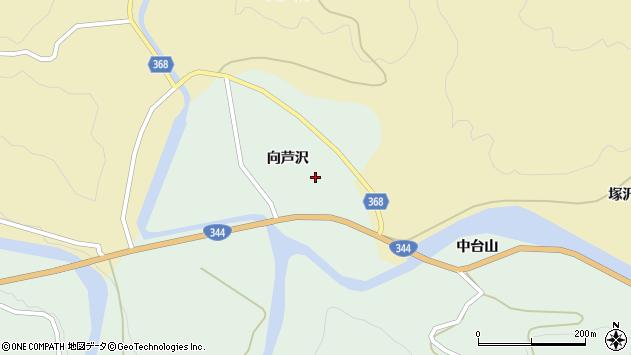山形県酒田市上青沢向芦沢103周辺の地図