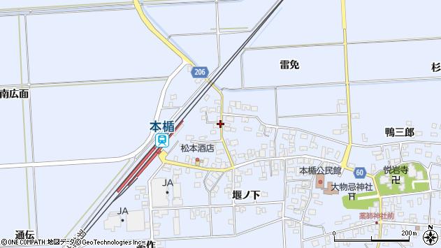 山形県酒田市本楯南広面4周辺の地図
