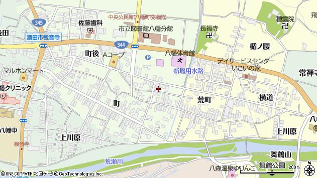 山形県酒田市観音寺町後10周辺の地図