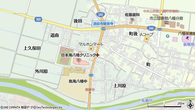 山形県酒田市小泉前田39周辺の地図