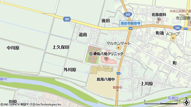 山形県酒田市小泉前田50周辺の地図
