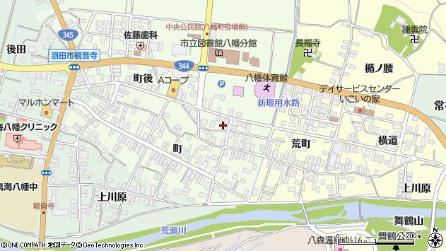 山形県酒田市観音寺町後63周辺の地図