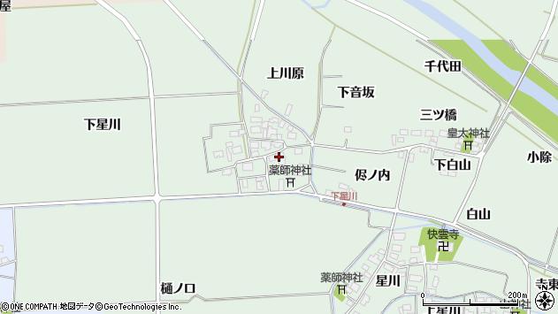 山形県酒田市大豊田周辺の地図