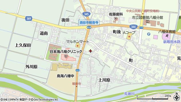 山形県酒田市観音寺町110周辺の地図