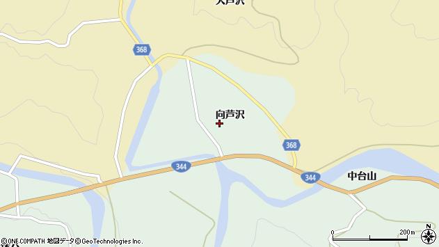 山形県酒田市上青沢向芦沢37周辺の地図
