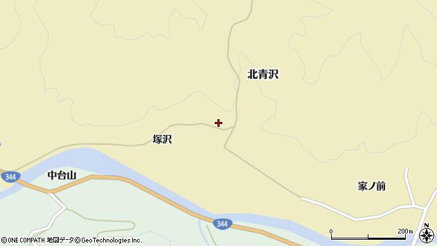 山形県酒田市北青沢塚沢周辺の地図