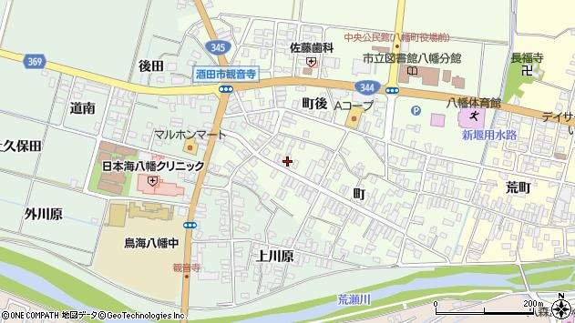 山形県酒田市観音寺町92周辺の地図