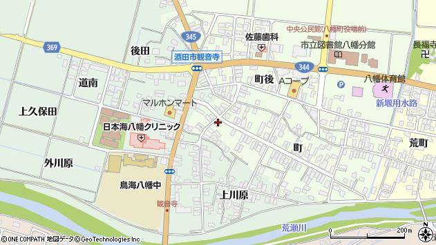 山形県酒田市観音寺町116周辺の地図