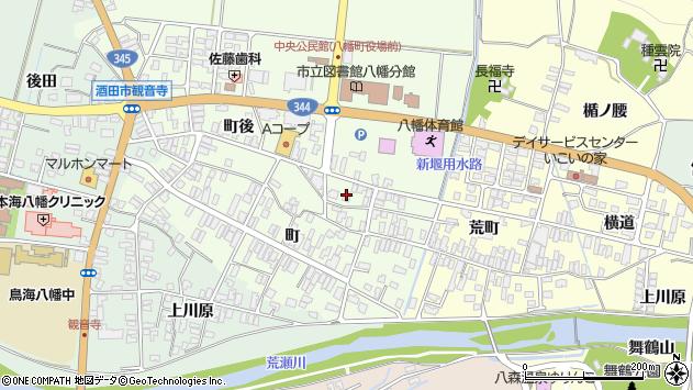 山形県酒田市観音寺町後66周辺の地図