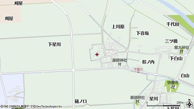 山形県酒田市大豊田下星川35周辺の地図