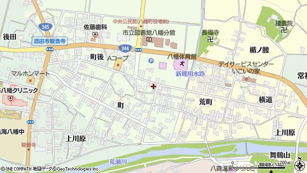 山形県酒田市観音寺町後61周辺の地図