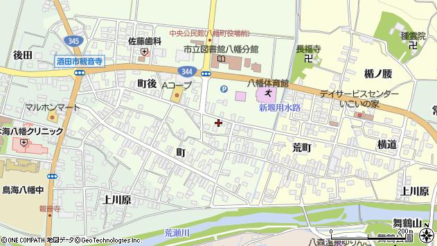 山形県酒田市観音寺町後65周辺の地図