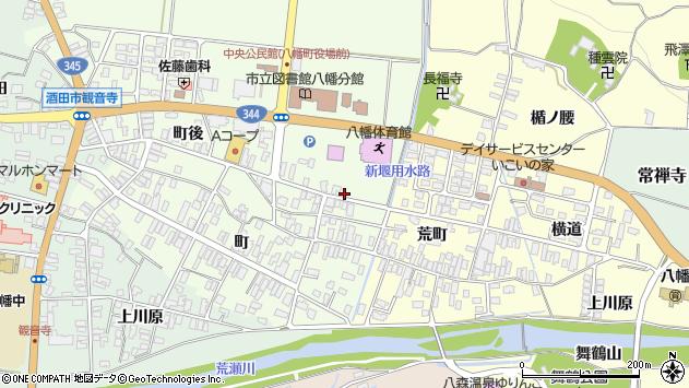 山形県酒田市観音寺町後52周辺の地図