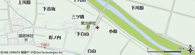山形県酒田市大豊田三ツ橋16周辺の地図