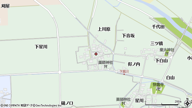 山形県酒田市大豊田下星川37周辺の地図