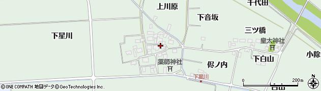 山形県酒田市大豊田下星川周辺の地図