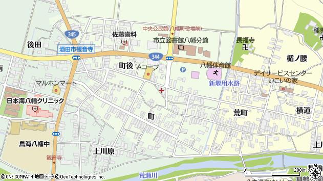 山形県酒田市観音寺町後74周辺の地図