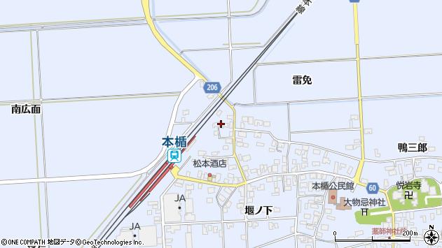 山形県酒田市本楯南広面8周辺の地図