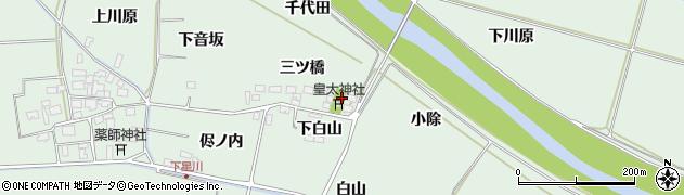 山形県酒田市大豊田三ツ橋周辺の地図