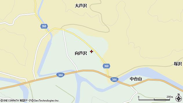 山形県酒田市上青沢向芦沢83周辺の地図