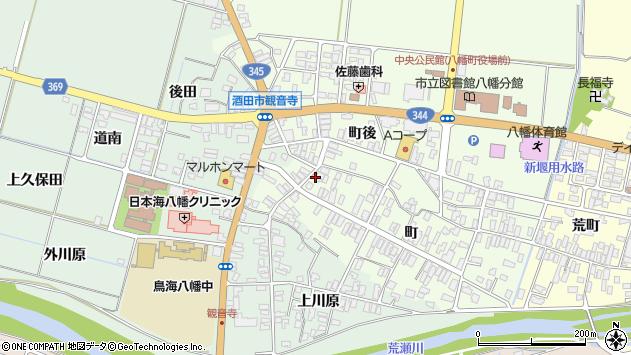 山形県酒田市観音寺町97周辺の地図