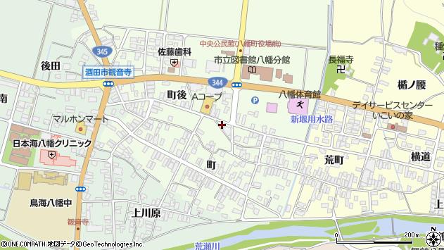 山形県酒田市観音寺町後76周辺の地図