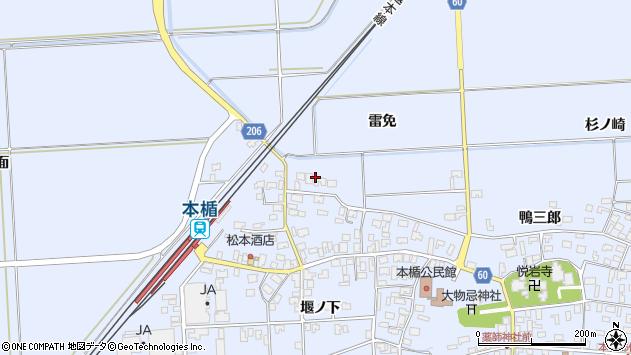 山形県酒田市本楯雷免8周辺の地図