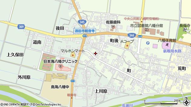 山形県酒田市観音寺町101周辺の地図